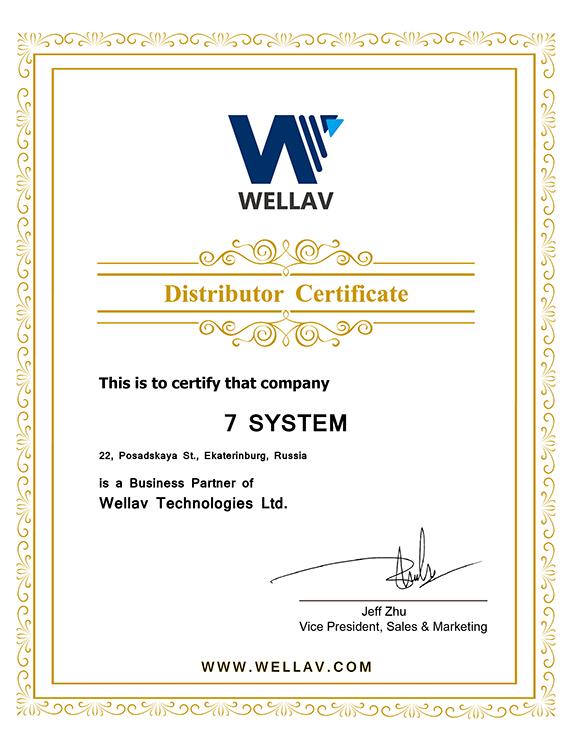 Сертификат Wellav