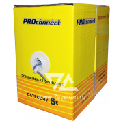 Кабель UTP 2PR 24AWG CAT5 Proconnect, CCA, 305 м -