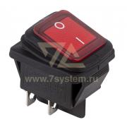 09de0c83bdcf Выключатель клавишный красный с подсветкой и влагозащитой 250V 15А (4с) On- Off (RWB-507)
