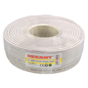 Кабель Microcoaxial Cu Rexant, белый, 200 м -