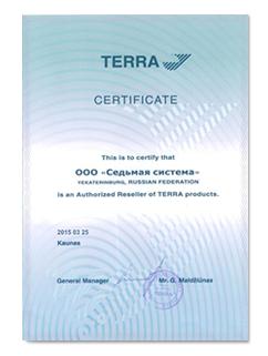 Сертификат Terra